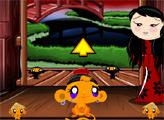 Игра Счастливая обезьянка: Ниндзя