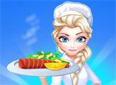 Игра Ресторан Эльзы - лосось запечёный в духовке