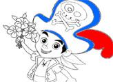 Игра Раскраска - Джейк и цветы