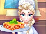 Игра Ресторан Эльзы - лазанья