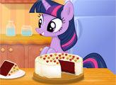 Игра Сумеречная искорка готовит красный бархатный торт