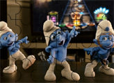 Игра Пазл: Смурфики танцуют