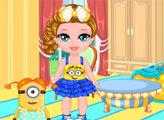 Игра Малышка Барби и Миньоны