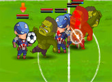Игра Герои играют в футбол