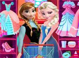 Игра Эльза и Анна - Подготовка к вечеринке