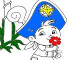 Игра Раскраска - Кубби и цветы