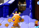 Игра Счастливая обезьянка: Время Нового Года