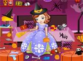 Игра София - уборка дома на Хэллоуин