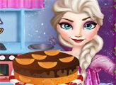 Игра Эльза готовит Рождественский торт