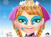 Игра Ринунок на лице Анны
