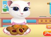 Игра Малышка Анжела готовит печенье с джемом