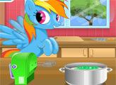 Игра Радужный пони готовит торт
