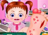 Игра Малышка Эмма лечит ножку