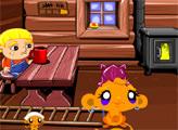 Игра Счастливая обезьянка: День Благодарения