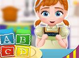 Игра Малышка Анна готовит пирожные-кубики