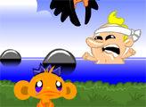 Игра Счастливая обезьянка: Выживание