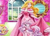 Игра Купание питомца принцессы Авроры