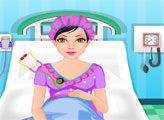 Игра Беременная Мама идет к врачу