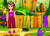Игра София ухаживает за садом