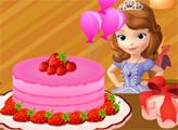 Игра София украшает торт