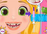 Игра Малышка Рапунцель лечит зубки