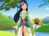 Игра Принцесса Мулан и ее наряды
