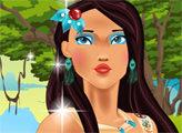 Игра Макияж Принцессы Покахонтас