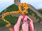 Игра Монстер Хай: Дженифер Лонг на крепости