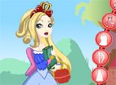 Игра Эвер Афтер Хай: Эппл Уайт возле Замка