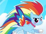 Игра Мой маленький Пони - Одевалка Радуги Дэш
