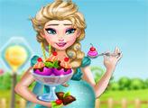 Игра Беременная Эльза готовит мороженое