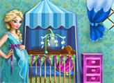 Игра Беременная Эльза: Детская комната