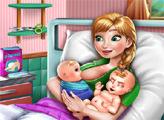 Игра Анна родила близнецов