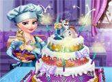 Игра Свадебный торт от Эльзы