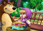 Игра Маша и медведь варят варенье