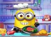 Игра Миньоны готовят на кухне