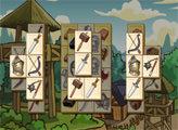 Игра Маджонг - Средневековый Замок