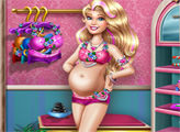 Игра Беременная Барби в солярии