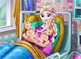 Игра Эльза родила близнецов