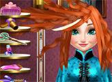 Игра Новая прическа для Анны