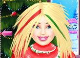 Игра Рождественская прическа для Барби