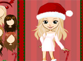 Игра Рождественский наряд для милой девушки