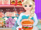 Игра Беременная Эльза готовит бургеры