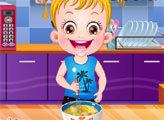 Игра Малышка Хейзел на кухне