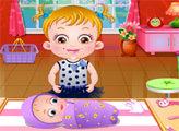 Малышка Хейзел на летнем пикнике