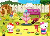 Игра Цветочный Сад Хелло Китти