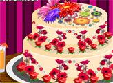 Игра Красочный цветочный торт