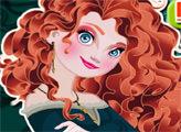 Игра Принцесса Мерида и макияж в Спа