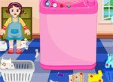Игра Малышка Стирает