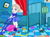 Игра Малышка Эльза делает уборку